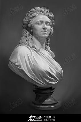 女人头像素描石膏