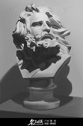 老人头像素描石膏1