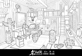 木质房子室内2