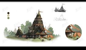 原始部落草房建筑设计