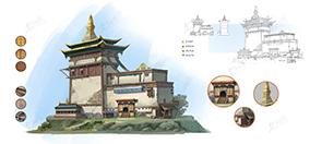 古風石制建筑