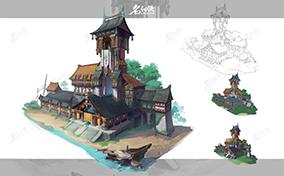 水边韩风建筑设计