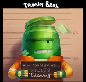 绿瓶Q版罐头人