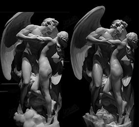 天使雕像素描4