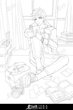 日系插画线稿3