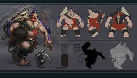 泰坦级怪物三视图