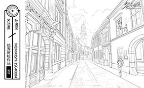 欧洲小镇街道
