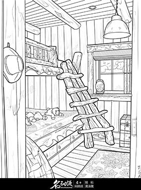 复古风木质卧室