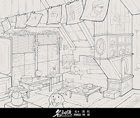 三角阁楼卧室