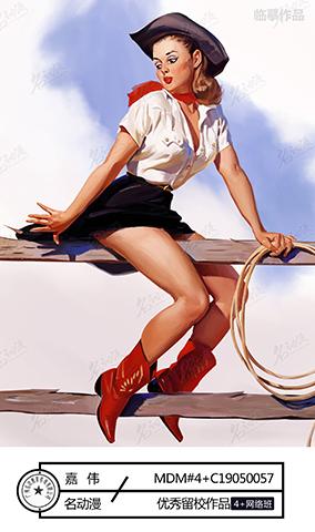牛仔风Pin-up女郎2
